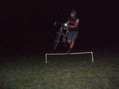Patrick at night CX practice